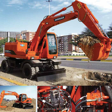 Cheap Price Doosan Daewoo Wheel Excavator Dx140w For Sale