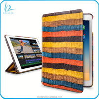 Latest design genuine crocodile cow leather real leather tablet case for pad air, pad air 2