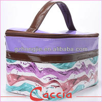 PU colorful design toiletry cosmetic bag sets