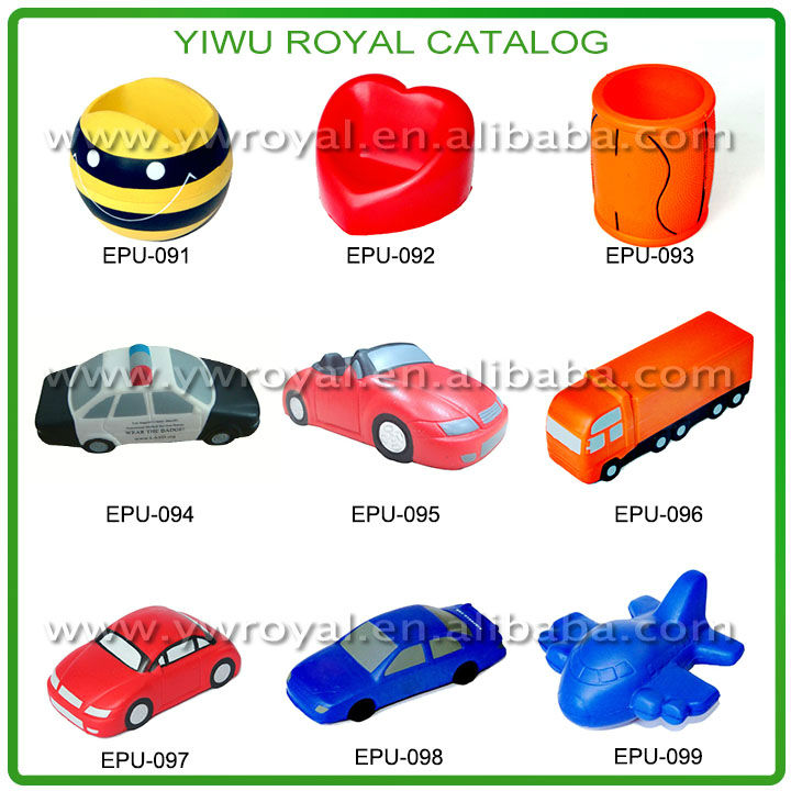 OEM Logo PU Foam Star Shape Promotional Anti Stress Ball