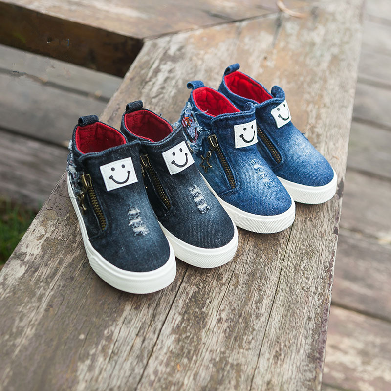 QX136 manufacturer wholesale fall 2017 new children's shoes children canvas leisure cowboy high shoes