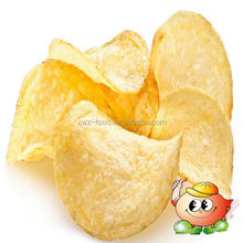 Hot flavoured stackable potato chips