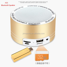 New A11 aluminum metal case material wireless bluetooth speaker