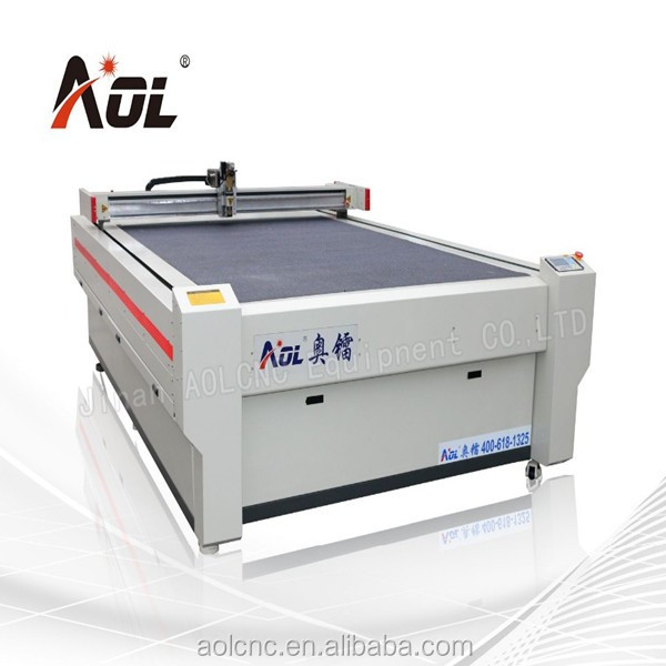 AOL-1625 leather production China manufacture cnc oscillating knife cutting machine