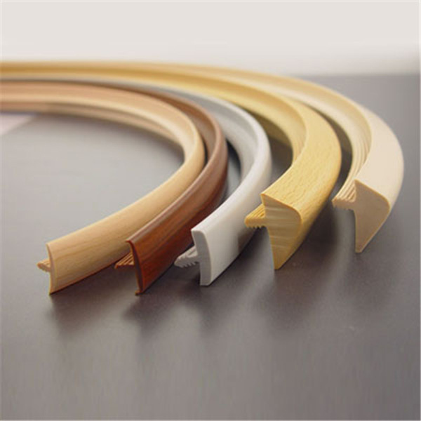 high quality furniture accessories flexible pvc profile edge banding
