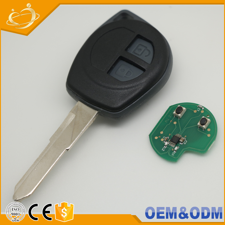 Remote 433MHz 7936 chip 2 buttons car <strong>key</strong> with chip car <strong>key</strong> for SUZUKI