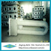 Centrifugal/spun casting radiant tubes for galvanized line heating furnace