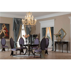 classic luxury cherry wooden dining room set