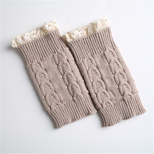 fashion and trendy colorful crochet leg warmer boot cuff with lace
