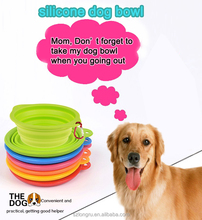 fancy and collapsible travel silicone pet bowl