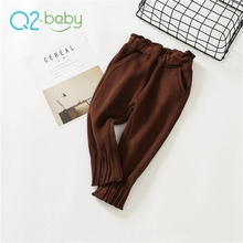 Q2-baby Quality Products Wholesale Winter Special Designing Kids Girls Ruffle Pants