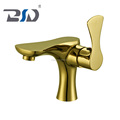 Golden plated high quality deck mouted water faucet single lever cold/hot wash basin faucet, hot-selling to European Market