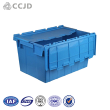 Logistic Box Containers Folding Plastic Moving Box With Lid