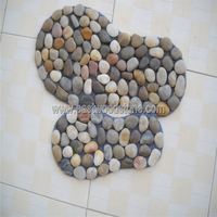 Cobble stone for foot steps