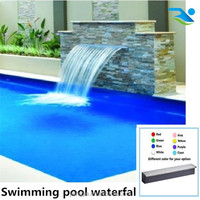 Artificial water curtain for swimming pool water feature