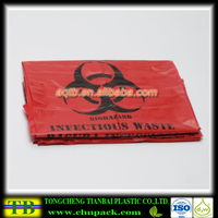 Red Plastic Seal Customized Medical Waste/Garbage Packaging Bag