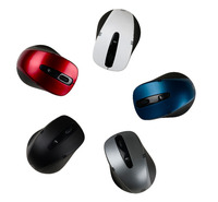 Ergonomic 3D optical wireless mouse with switch button