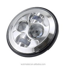 "7"" LED Projector Head Light Black for Harley Davidson 2012-2013 FLD / 1994-2013 Touring & Softail Models"