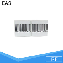 white rf barcode label eas printing labels eas clothes rf security tag