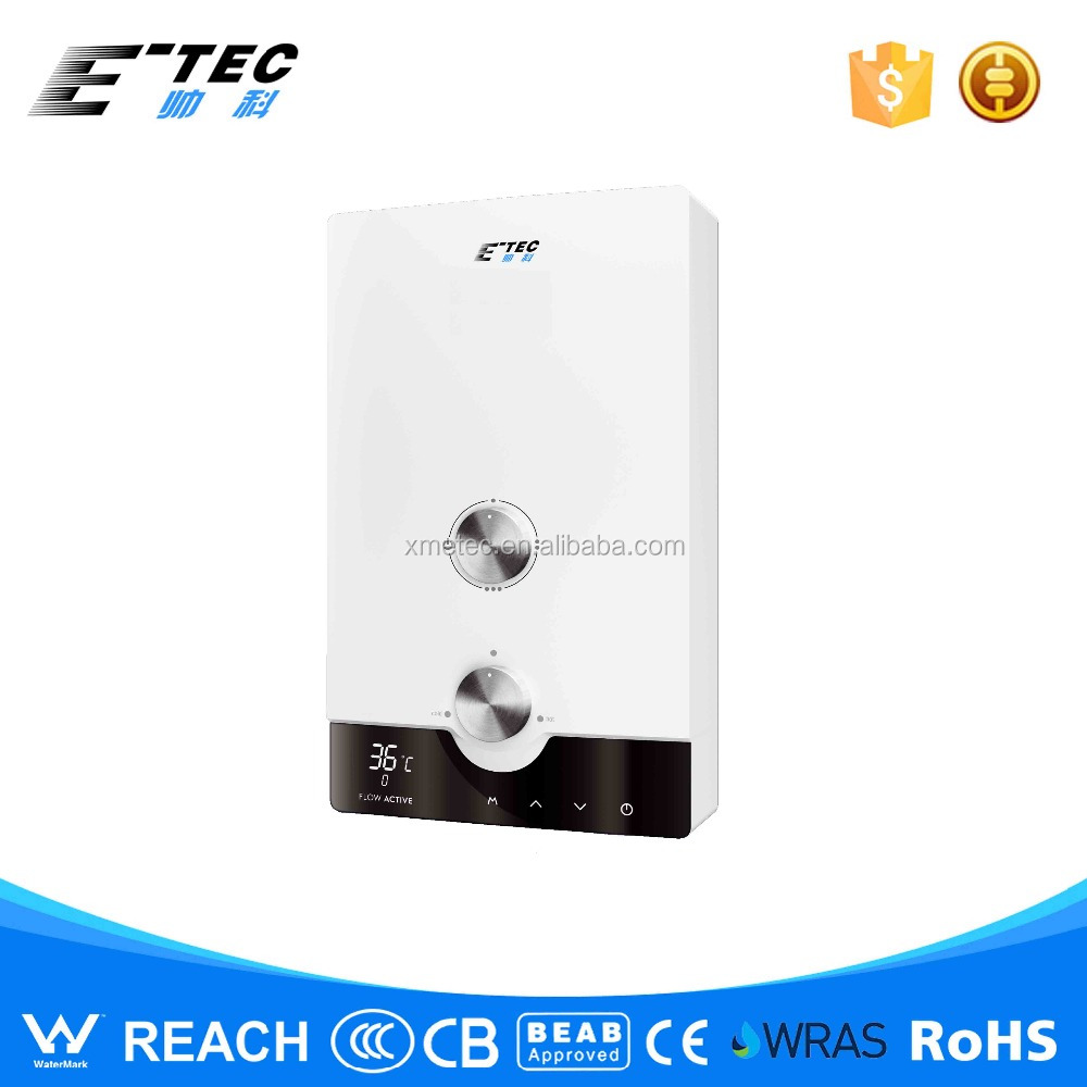 Elegance shape tankless water heater with bare wire heating element