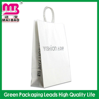 size customized promotional block bottom brown kraft paper bags