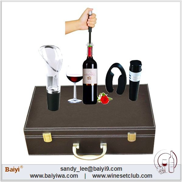 Professional Custom Leather Wine Carrier Hold 2 Bottles
