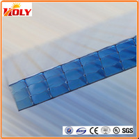 anti-aging waterproof diamond transparent sheet roofing materials for decoration building