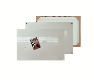 Easy Install Frameless Magnetic Heat Tempered Glass Whiteboard with Dismountable Pen Tray