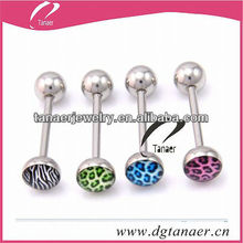 body jewelry Logo Tongue Barbell (Disk)
