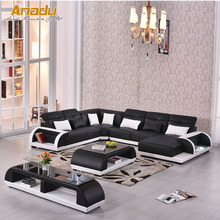 Modern big house U shape genuine leather sofa AL509-A