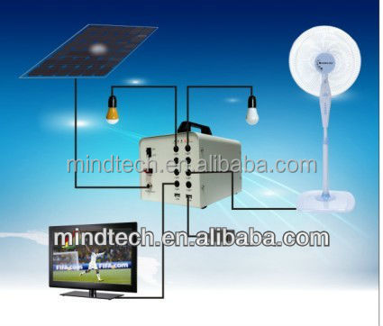 RoHS CE IEC Certified,40w mini home solar product for lighting system