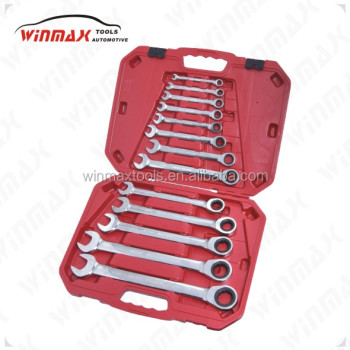 Double open end tool box ratchet spanner set