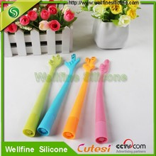 Popular promotional novelty silicone ball pen for kids