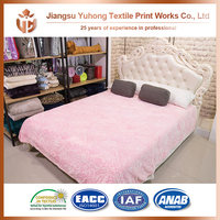 Light Pink Flower Fleece Burn Out Bed Blankets With 20% Cost Saving
