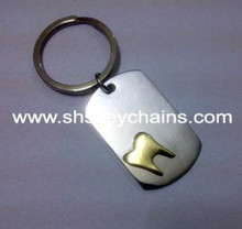 Stainless Steel Tag with Brass Tooth