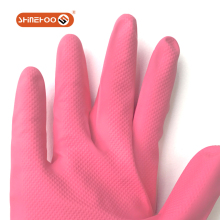 SHINEHOO Light Pink And Thin Rubber Gloves For Household Kitchen