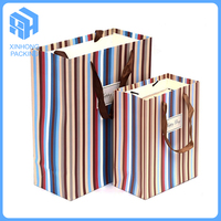 High quality paper bag with handles, gift bag with logo print