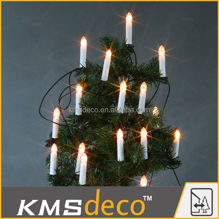 Outdoor IP44 transformer christmas tree decoration led candle light string lights