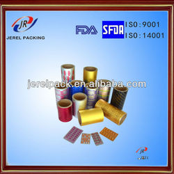 Pharmaceutical Use Blister Printed Aluminium roll heatsealing with cold forming alu foil