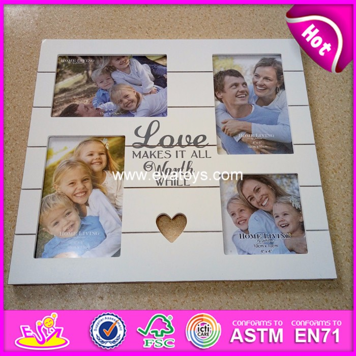 2018 new fashion wooden photo frame,top popular wooden frame photo,hot sale wooden photo frame W09A039