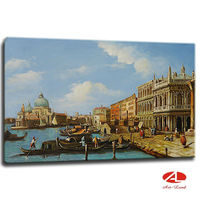 Beautiful venice oil painting with 3d effect
