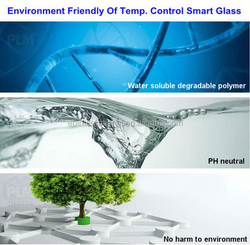 temperature control smart glass project ,temperated laminated glass, EB Glass