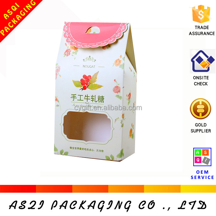 wholesale printed custom logo design paper cookie packaging bag