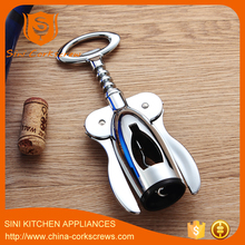 deluxe fasion zinc alloy with chrome plating wine opener wing corkscrew