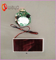 HANABI Solar Panel Single LED Light Red color /Flashing led module with Solar Panel