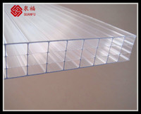 colorful solar control ability ten years warranty 100% virgin lexan hollow polycarbonate sheet