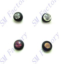 zebra design on magnetic fake gauge plug , acrylic, no ear piercing need body jewelry --SMEPP54126