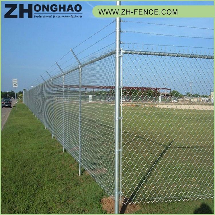 Eco-friendly reclaimed material cheap used chain link fence for sale