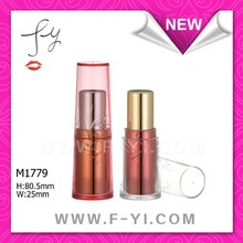 Young red plastic cosmetic lip stick tube