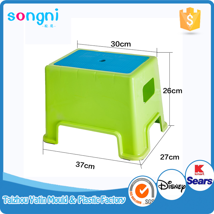 Cheap Portable Plastic Baby Square Kitchen Stool